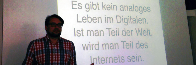Keynote von Michael Seemann auf lmb-Netzwerktreffen